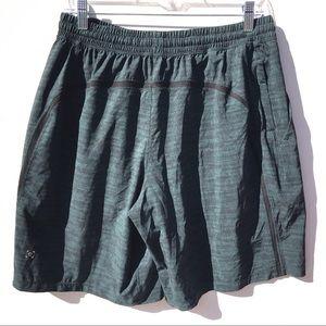 LULULEMON linerless pace breaker shorts large l